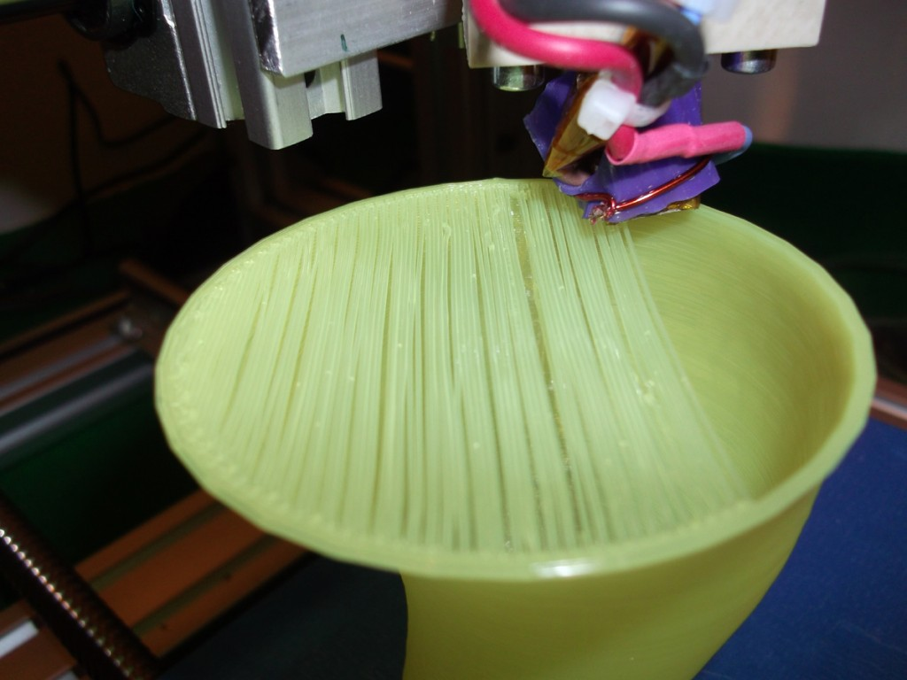 Filament spanning gap