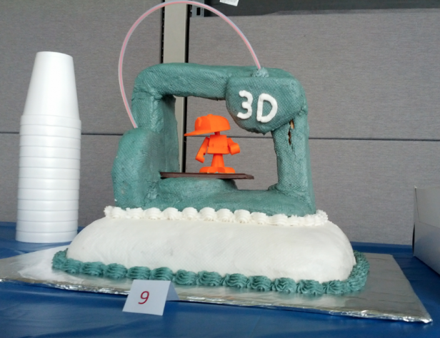 3d printer Cube cake
